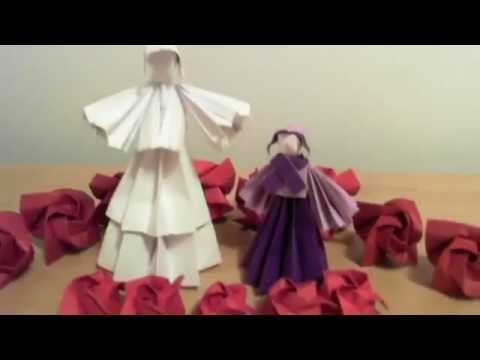 Day 9 – 9 Ladies Dancing - The nine Fruit of the Spirit: 1) love, 2) joy, 3) peace, 4) patience, 5) kindness, 6) generosity, 7) faithfulness, gentleness, and 9) self-control.  (Galatians 5:22)Origami doll tutorial