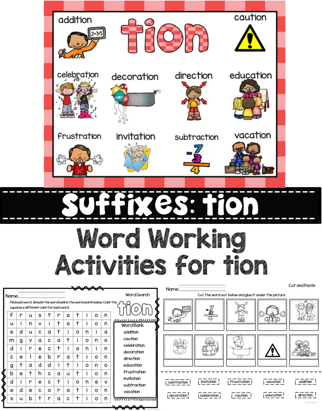 Worksheet Tion Words