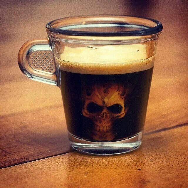 Skull espresso cup | Coffee love, Coffee art, My coffee