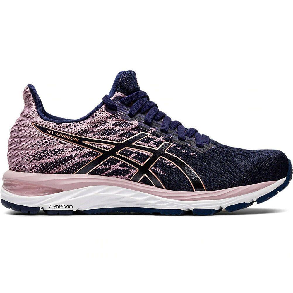 Asics 1012a692 400 Women S Gel Cumulus 21 Knit Running Shoes B Width Blue Walking Shoes Women Asics Asics Running Shoes
