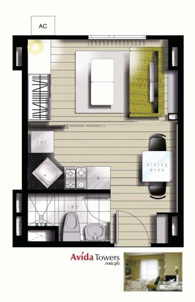 Avida Towers Makati West Studio