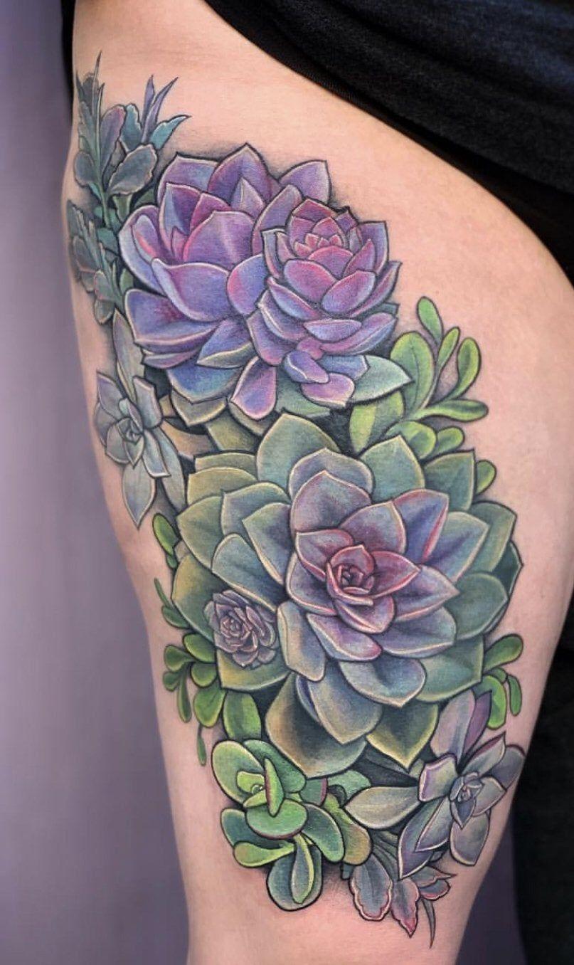 Succulent arrangement by Jessie Rae at Unkindness Art in