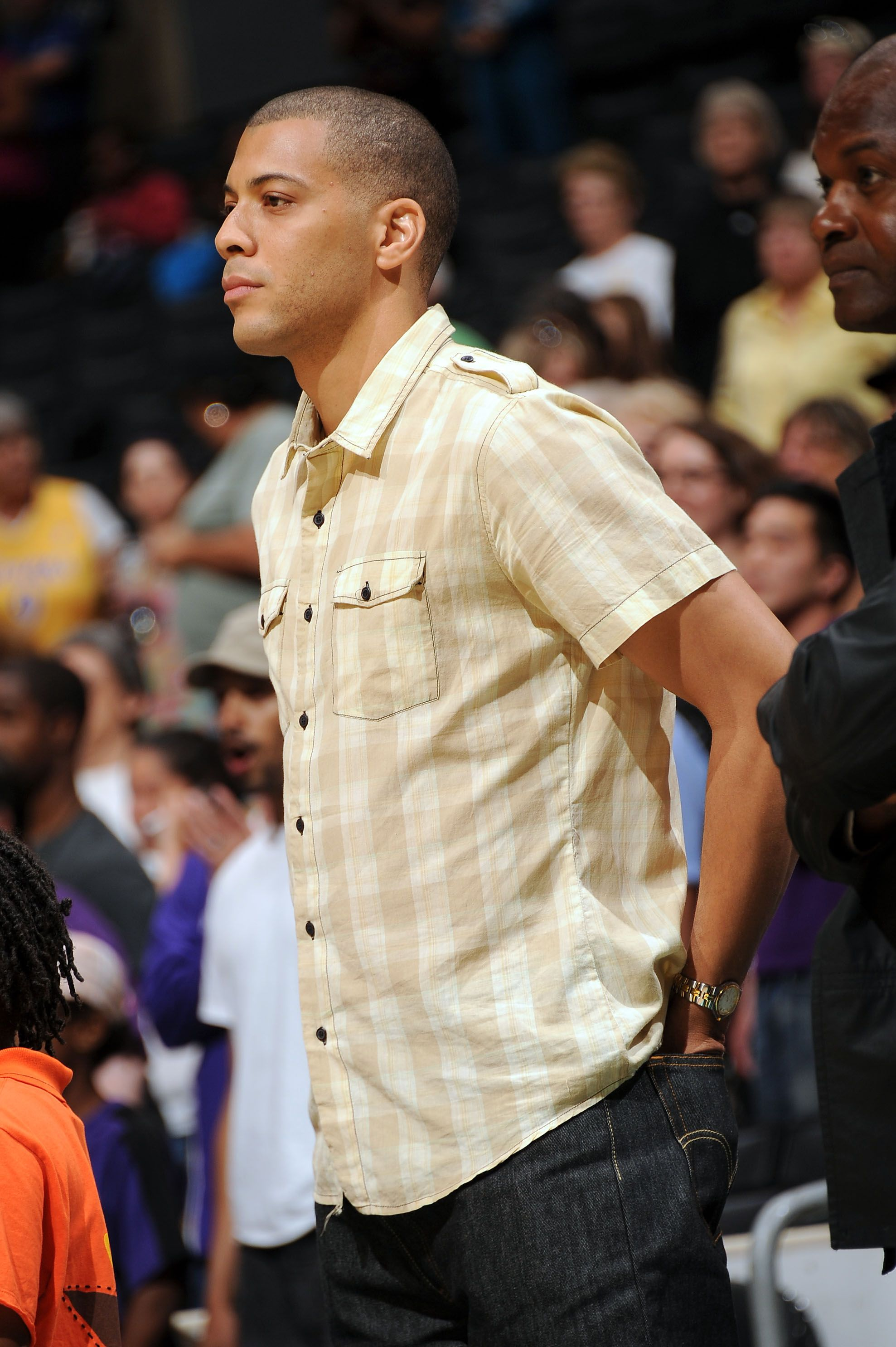Anthony Parker at a Sparks game supporting Candace Parker