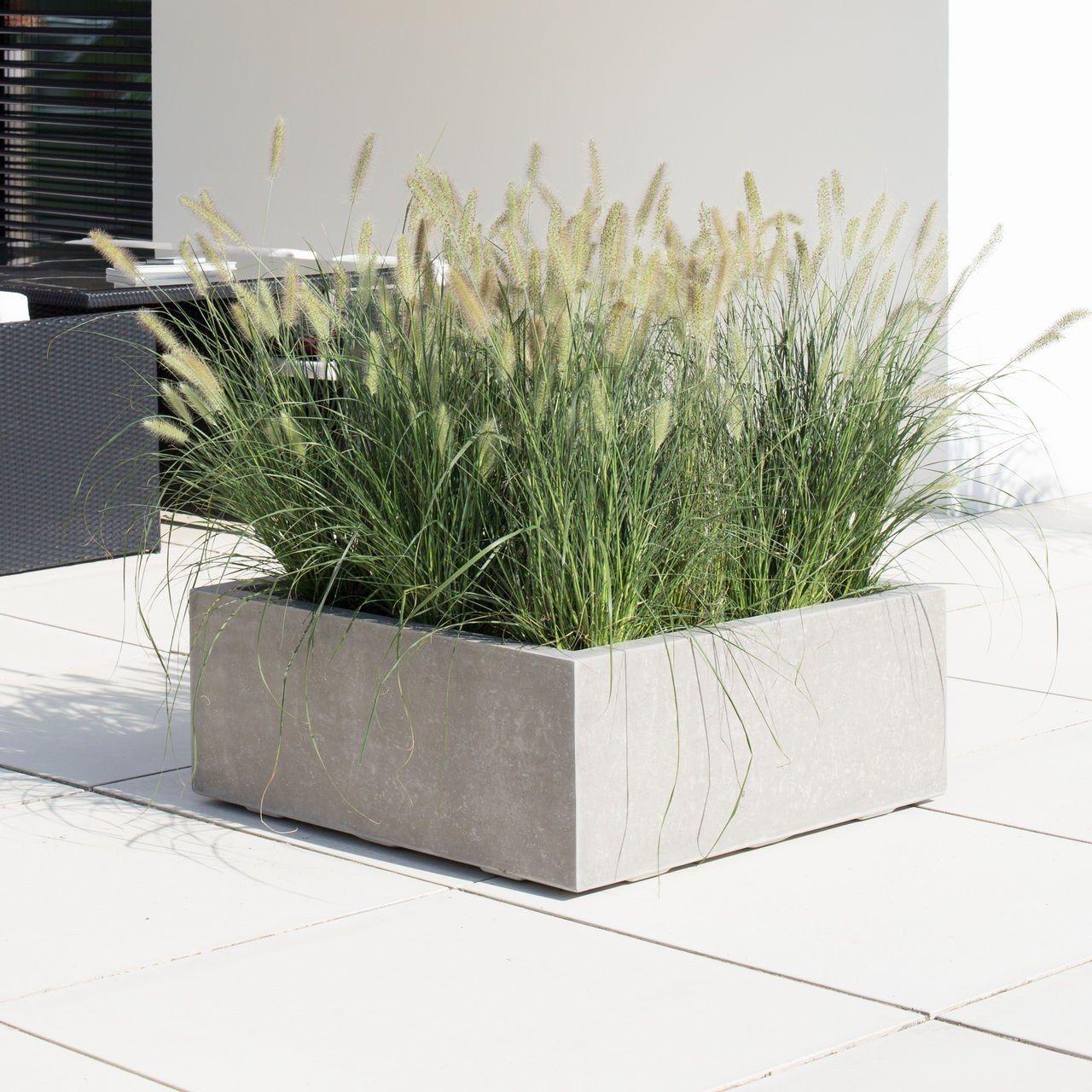 pflanzkübel im coolen beton-look aus frostfestem ... - Pflanzgefase Im Garten Ideen Gestaltung
