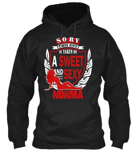 I Love Norma ! Black Sweatshirt Front
