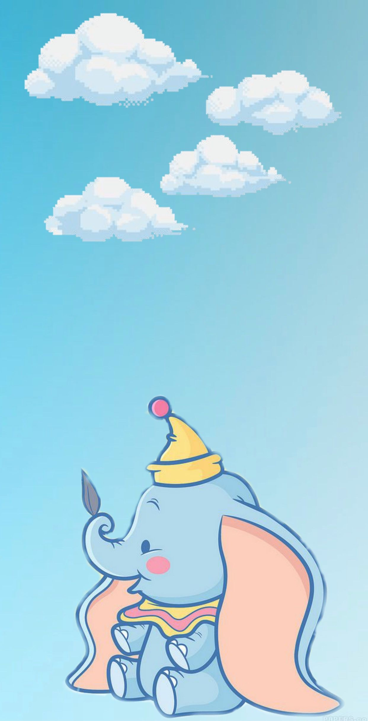 Baby dumbo wallpaper Disney wallpaper, Cute cartoon