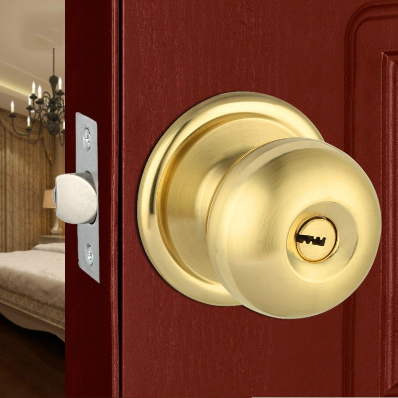 Free Shipping Gold Silver Ball Lock Ball Lock Ball Type Door Lock Indoor  Room Door Doors