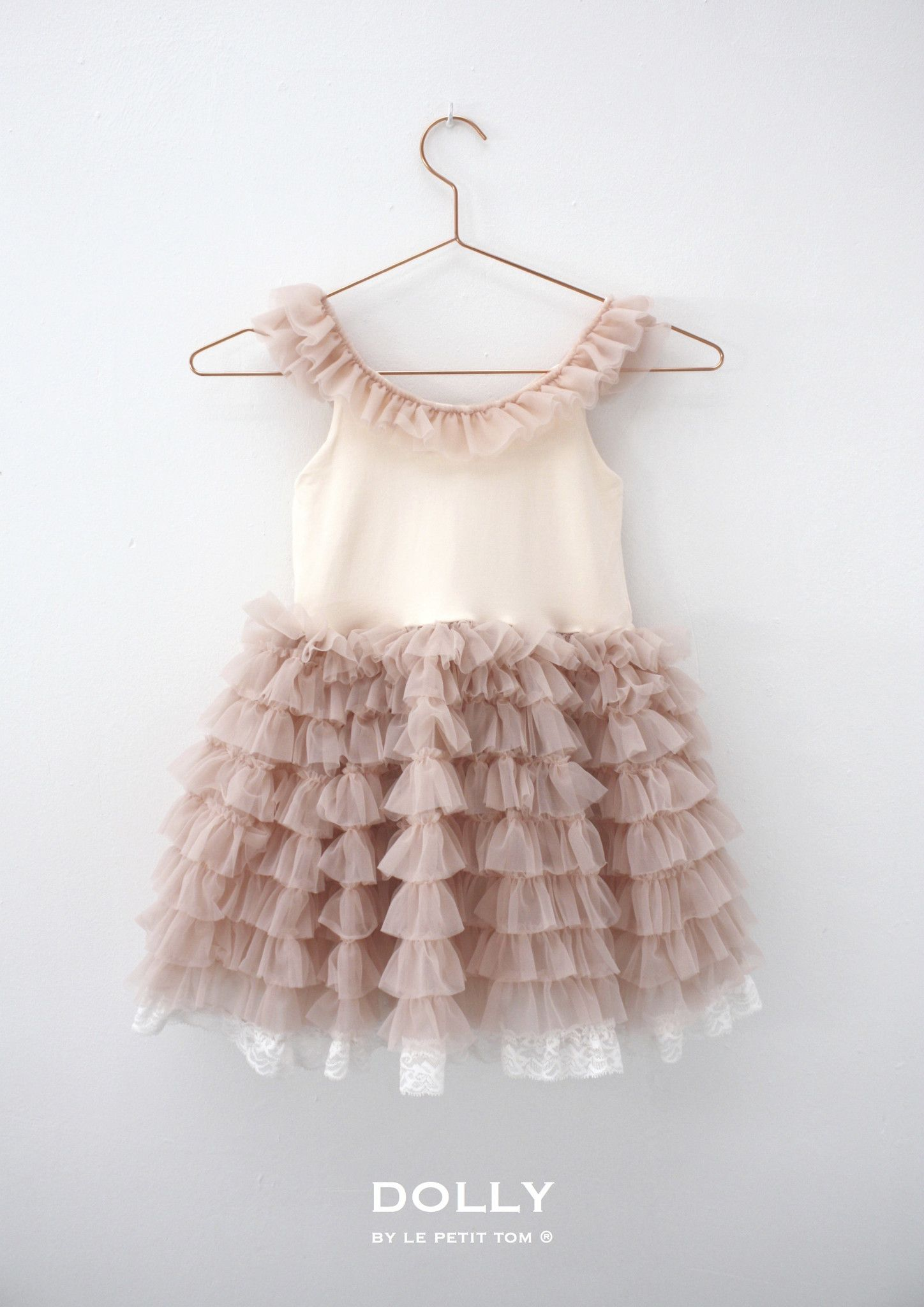 DOLLY by Le Petit Tom SHOULDER RUFFLED DRESS ballet pink Light