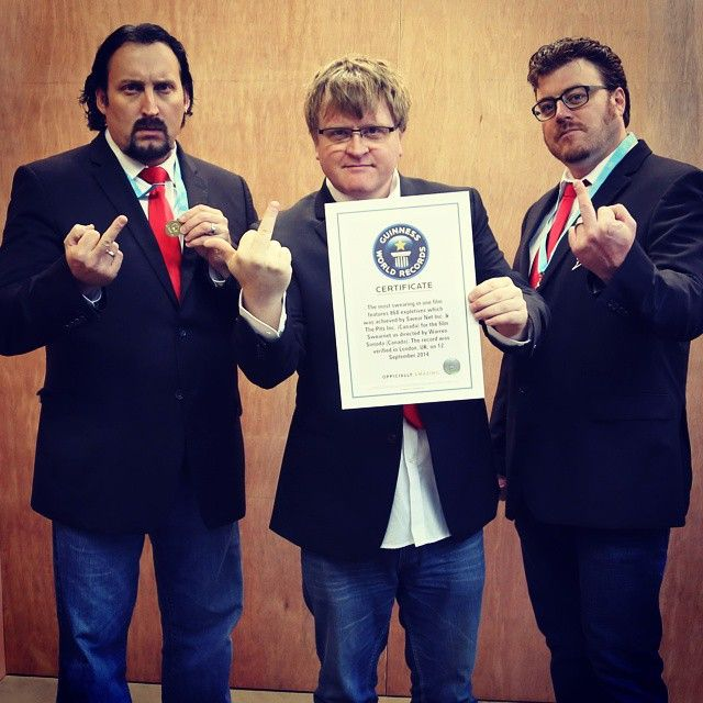 It's official, fuckers - SwearNet: The Movie is in the Guinness Book of World Records for the sweariest movie ever!