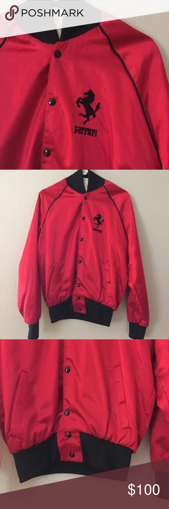 Vintage Red Ferrari Jacket Large Jackets Vintage Red