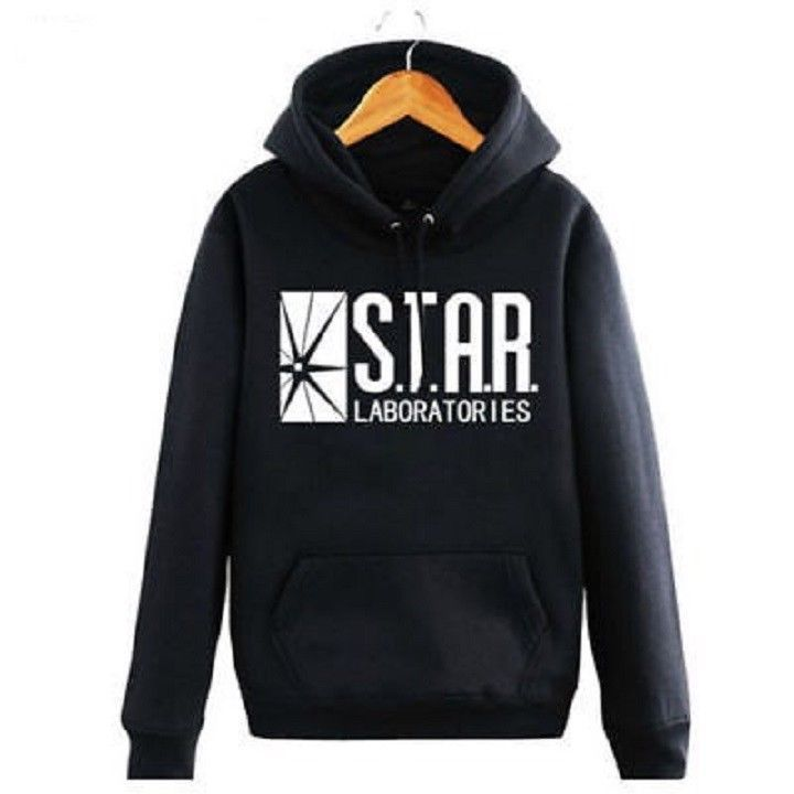 The Flash Star Labs Hoodie Star Laboratories Black Sweatshirt Coat Unisex jacket