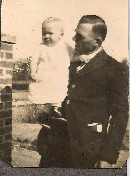 Pa holding our Dad, Edward in Hawkinsville, GA