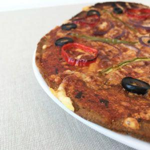 pizza-vegetal con teff