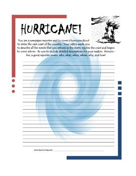 Natural Disaster Writing Prompts - Great cross-curricular activity! ($)