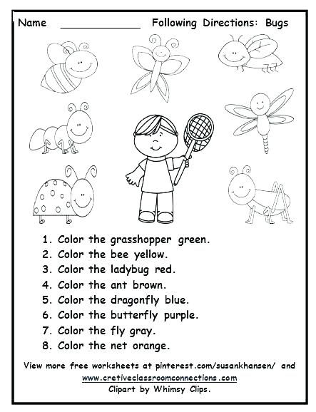 Following Directions Worksheets For Preschool Following Directions Activities Following Directions Kindergarten Worksheets Free following directions worksheets