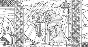 Image Result For Beauty And The Beast Stained Glass Coloring Page