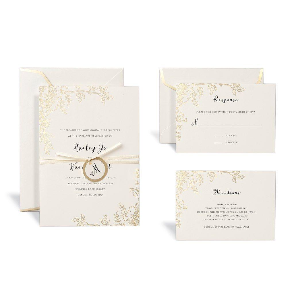 Floral Gold Wedding Invitation Kit By Celebrate It™ | Wedding ideas ...