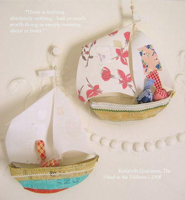 paper mache boats    www.annwood.net/blog