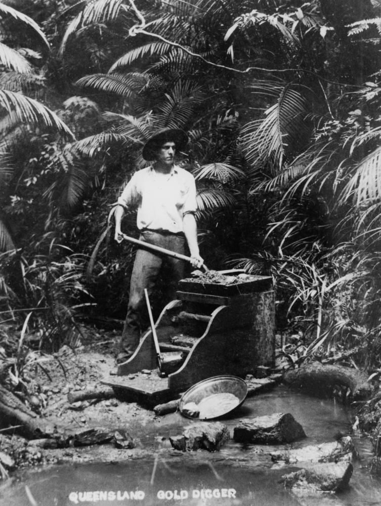 Gold digger panning for gold queensland in 2020 panning