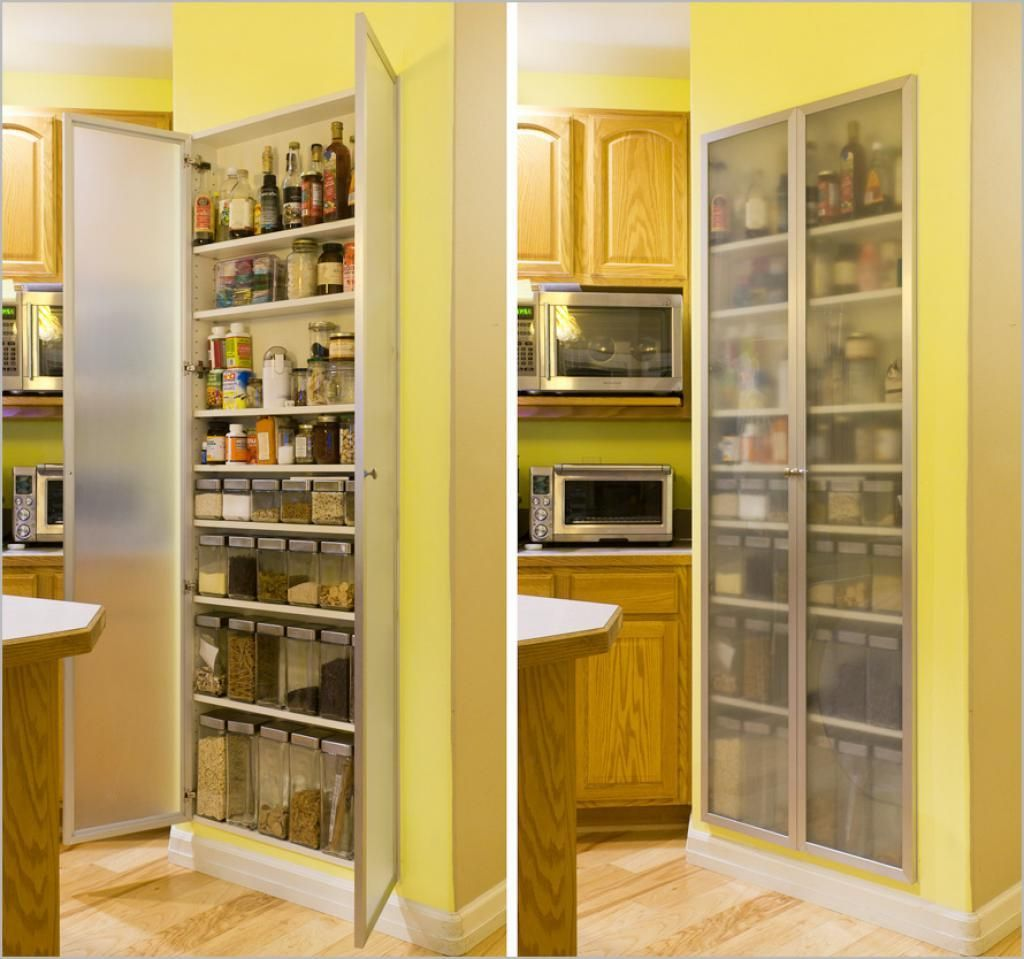 Yellow Paintry Storage Wooden Materials For Modern Kitchen