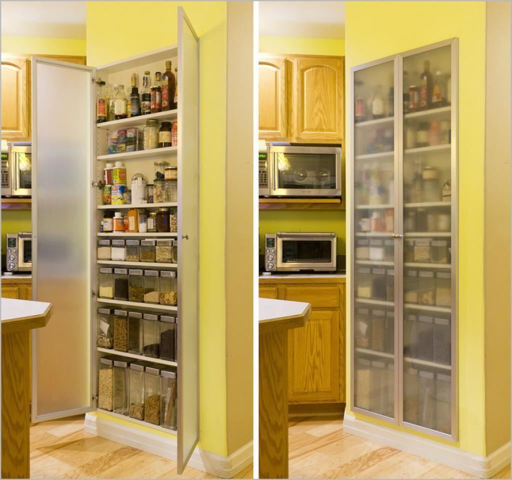 Yellow Paintry Storage Wooden Materials For Modern Kitchen Storage ...