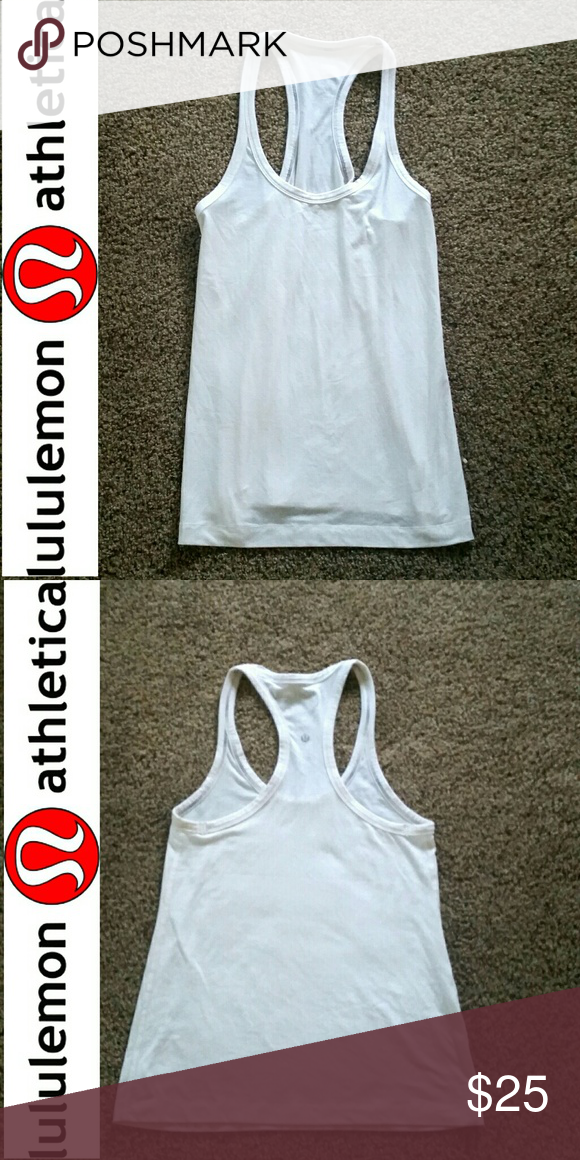 "🌸Lululemon🌸 Pima cotton racerback tank Lululemon pima cotton racerback tank. Cream. No size tag. Flat measurements 15"" across chest.  Center down 18"". Back down center 27"". No rips, stains or tears! lululemon athletica Tops Tank Tops"