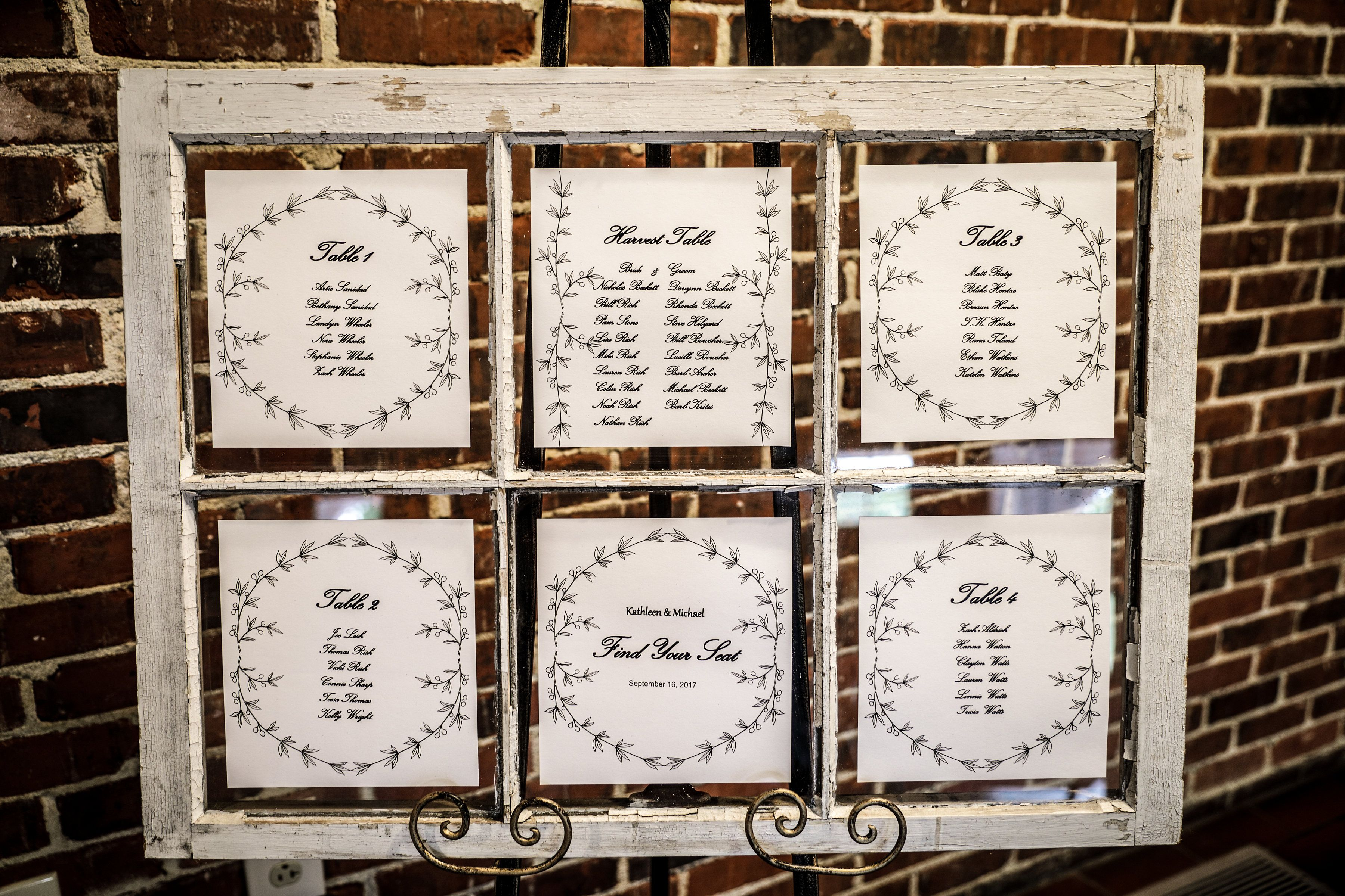 Free Printable Seating Chart Wedding Seating Chart In A Rustic Window Framei Used A Free .