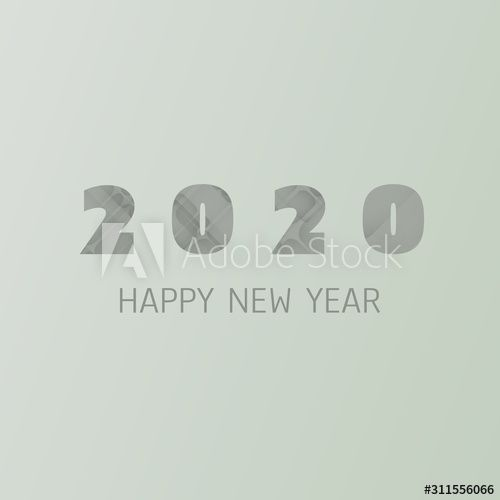 Simple Green and Grey New Year Card, Cover or Background Design Template - 2020 , #Aff, #Year, #Card, #Grey, #Simple, #Green #Ad