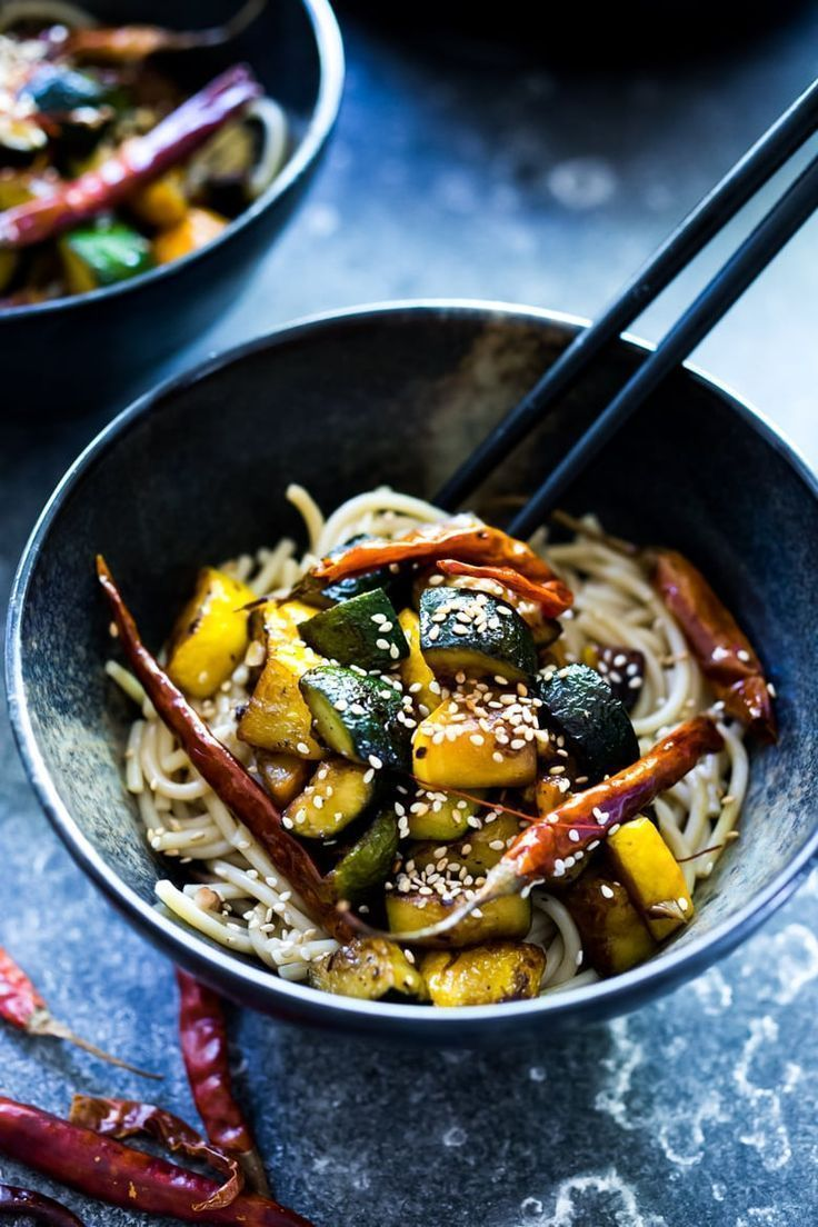 Kung Pao Zucchini #healthyweeknightmeals