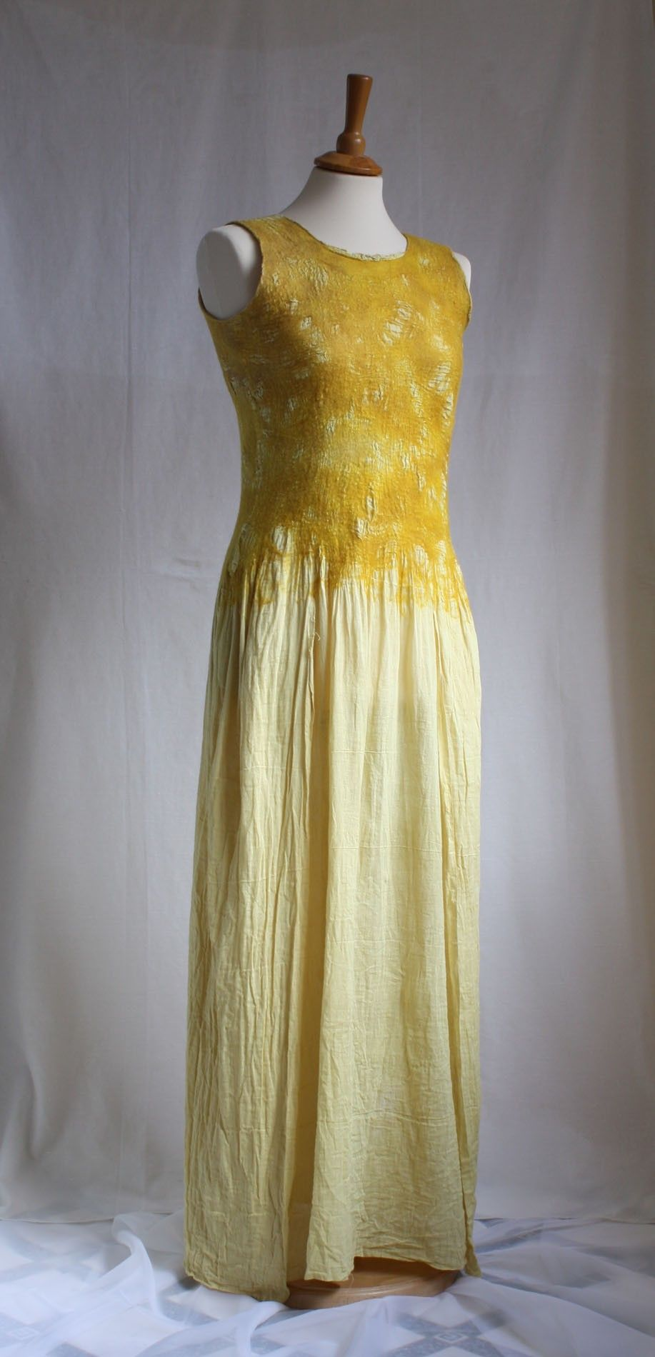 Hush. The Sun is Rising. Nunofelted Dress, OOAK. $242.00, via Etsy.