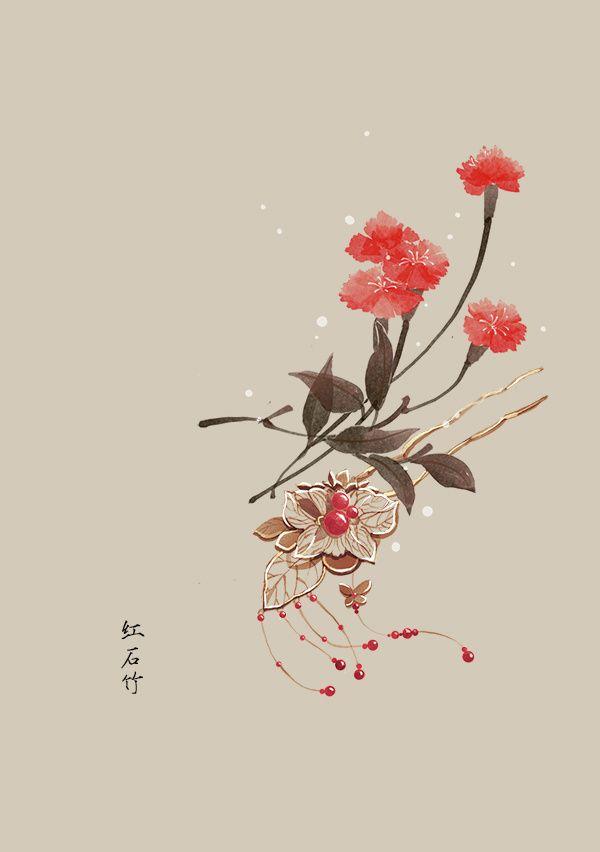 五月份的生日花1~16号_artistic青尘__插画师作品_涂鸦王国gracg.com