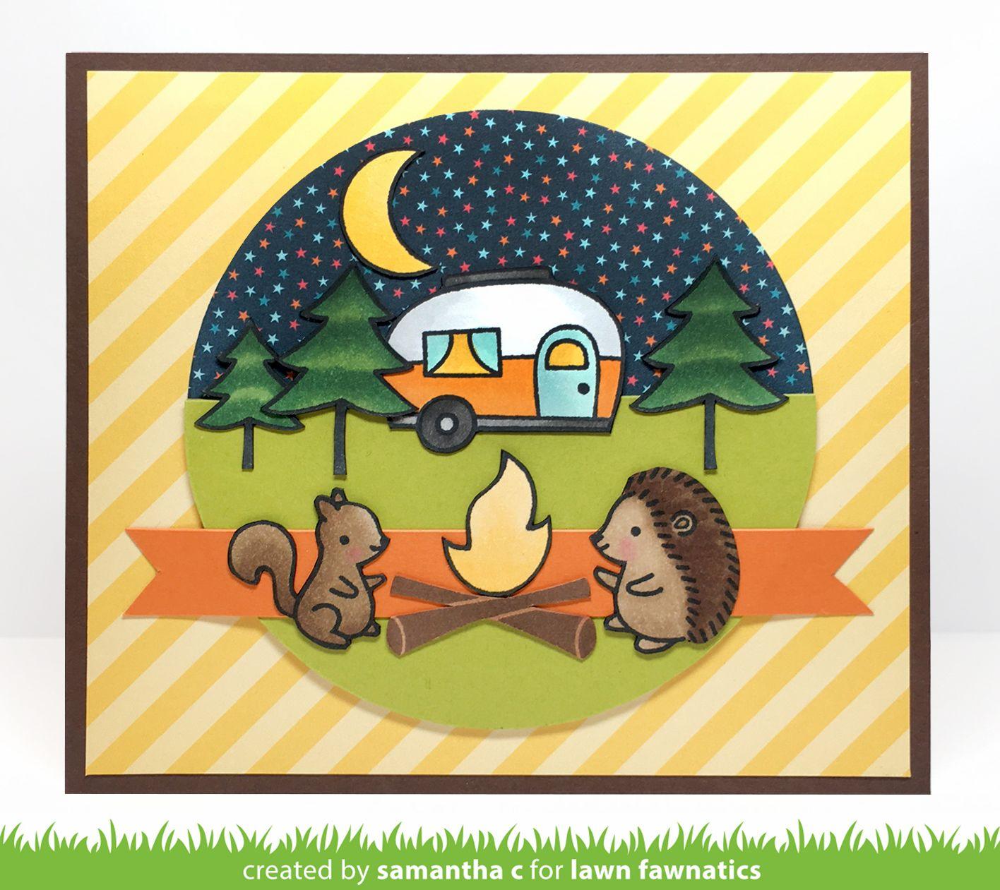 diy camping kids card lawn fawnatics 28  card sketch in