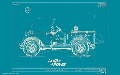 gashetka 1947 Land Rover u201dCentre Steeru201d Prototype Blueprint - copy blueprint information architecture