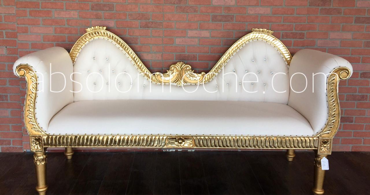 factory sample 50 off absolom roche hindu wedding settee sofa gold