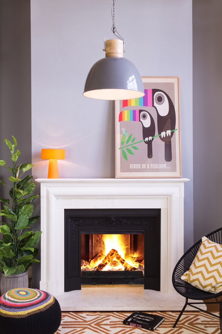 Simple White Fireplace With Black Granite White Fireplace Granite Fireplace Fireplace