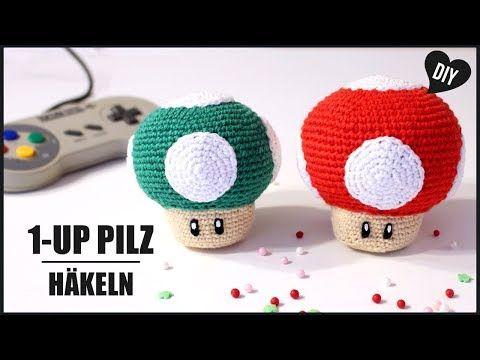 1up Pilz Häkeln Super Mario Häkelanleitung Amigurumi Diy By