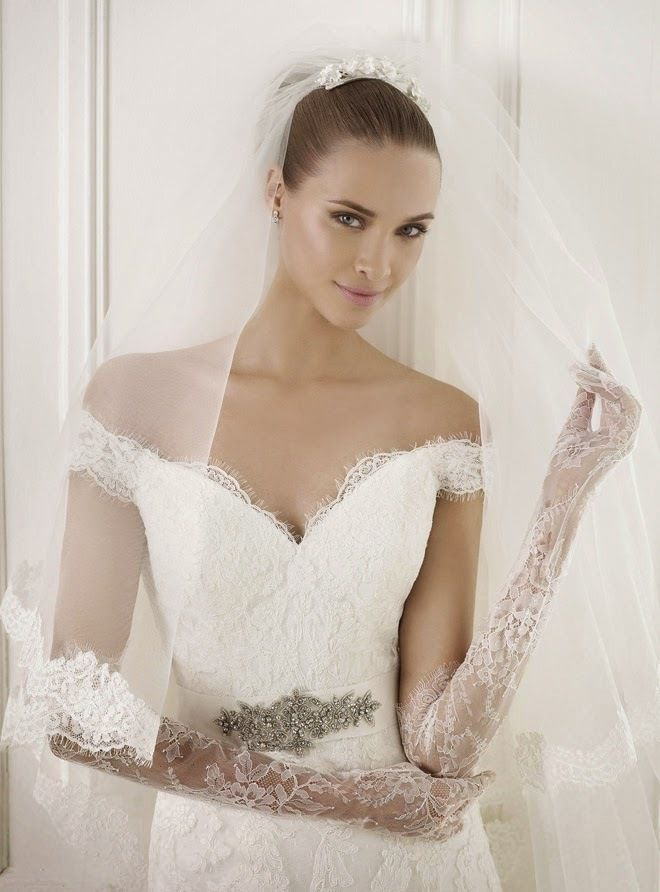 Pronovias 2015 Bridal Collections Fashion Style Magazine Page 28 Short Sleeved Cap Sleeved