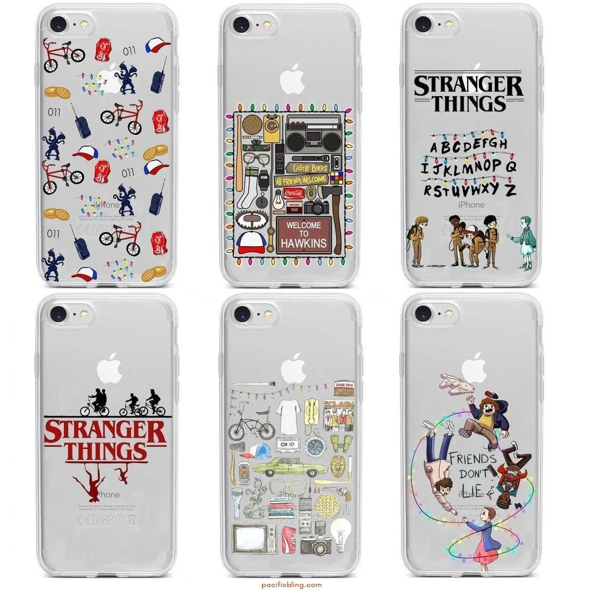 Stranger Things Clear Phone Cases #seriesonnetflix