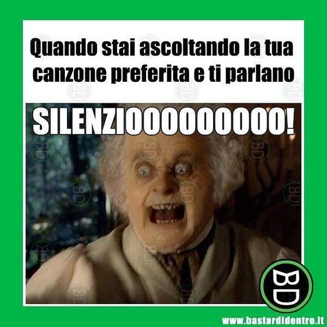 Odio la gente che parla sempre a sproposito! #bastardidentro #canzone #silenzio www.bastardidentro.it