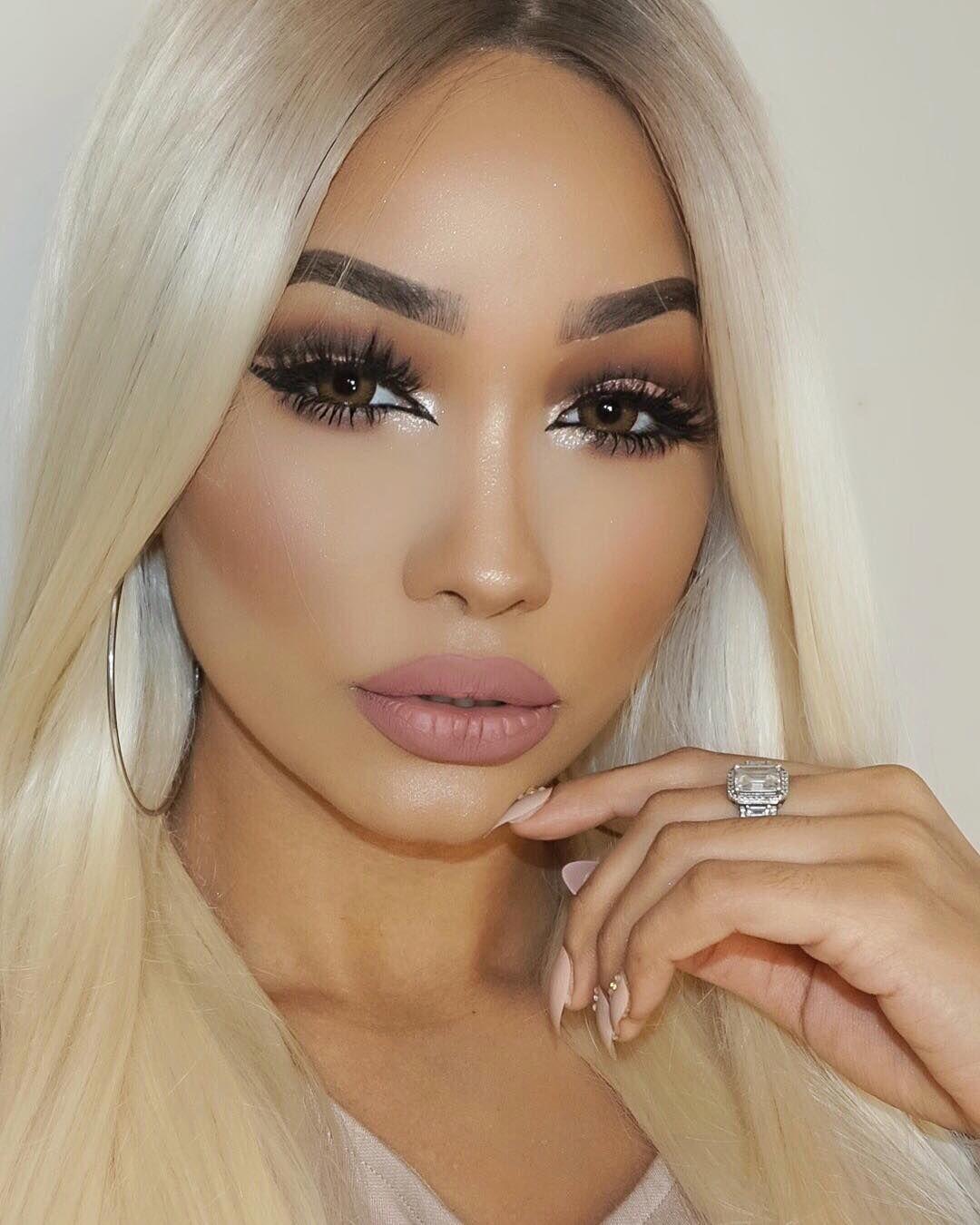 Blonde Hair Light Brown Eyes Makeup And Nails Pinterest Makeup