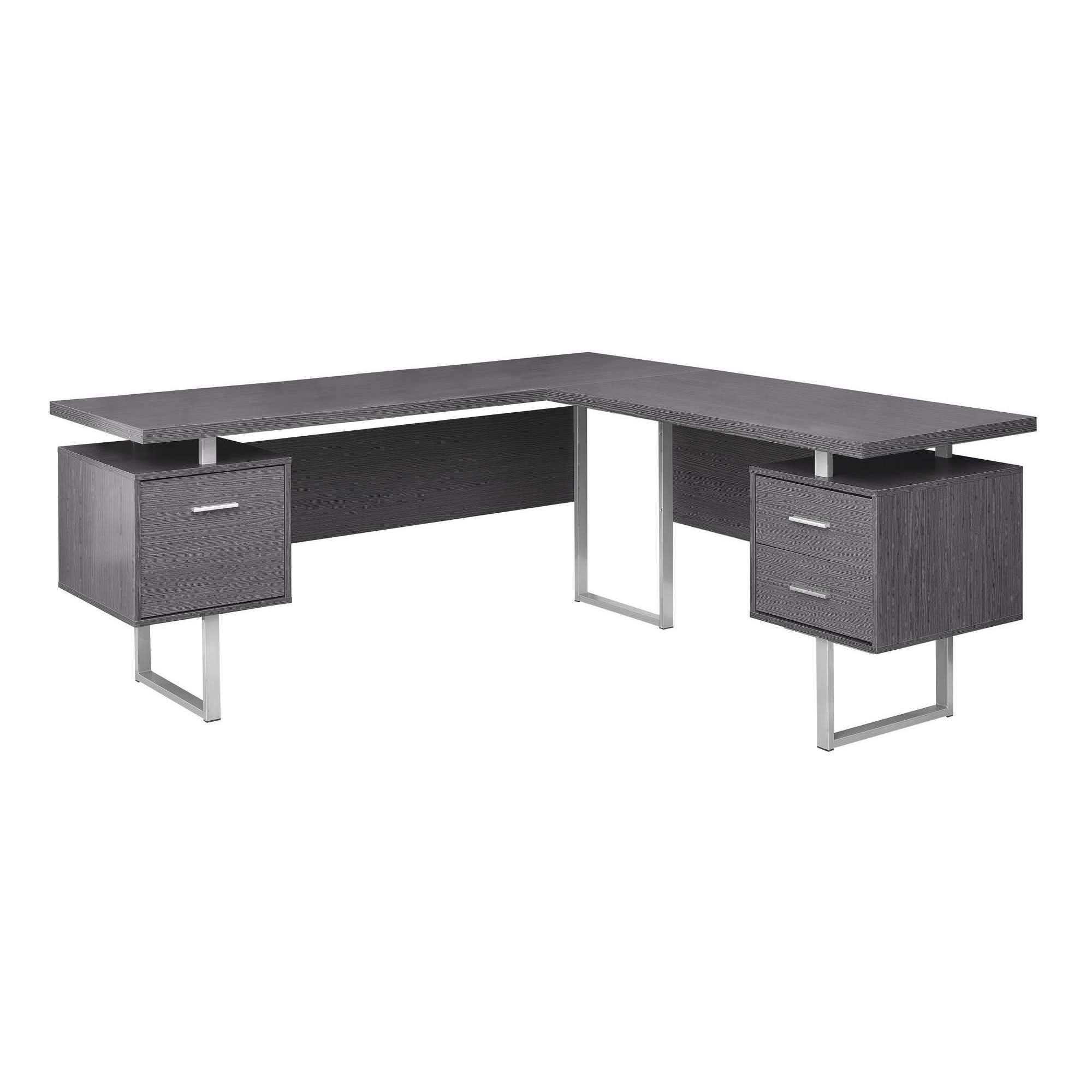 Computer desk 70l grey left or right facing l shaped