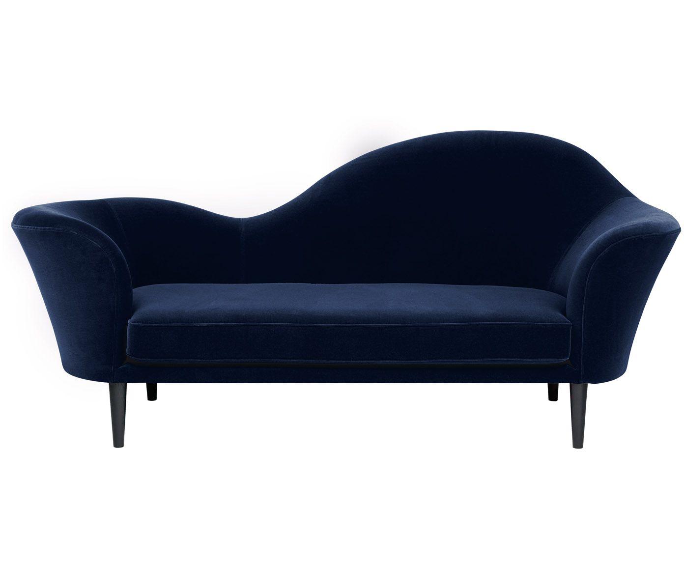 Samt-Sofa Grand Piano (2-Sitzer) | Dunkelblau, Sofa und Wohnzimmer
