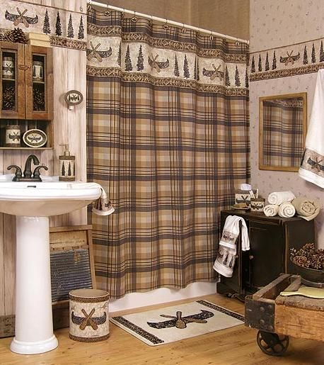 cabin decor bathroom | CAMPING CABIN LODGE DECOR BATHROOM ...
