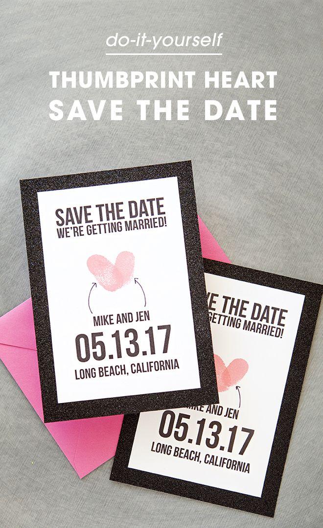 Thumbprint Save the Date with Free Printable! ✏ Printables