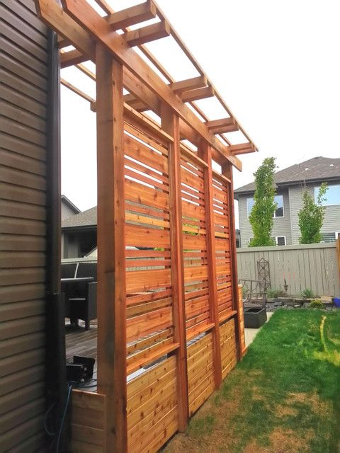 Pergola Privacy Screen Marvelous Cedar Planters With And