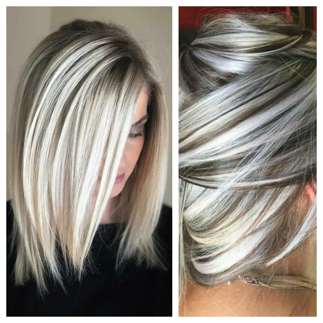 I Love This Type Of Hair Color This Is Exactly How I Want My Hair Colored Short Hair Gray N Blonde Gorgeous Gray Hair Hair Styles Types Of Hair Color