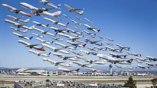 Check This Out Photographer Michael Kelly Spent 8 Hours Shooting Planes Leaving Lax An Los Angeles International Airport Time Lapse Photo Aviation Photography