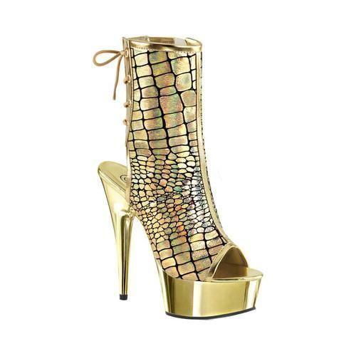Pleaser Delight 1018HG Open Toe Lace Up Boot (Women's) PcLE3ZjwEX