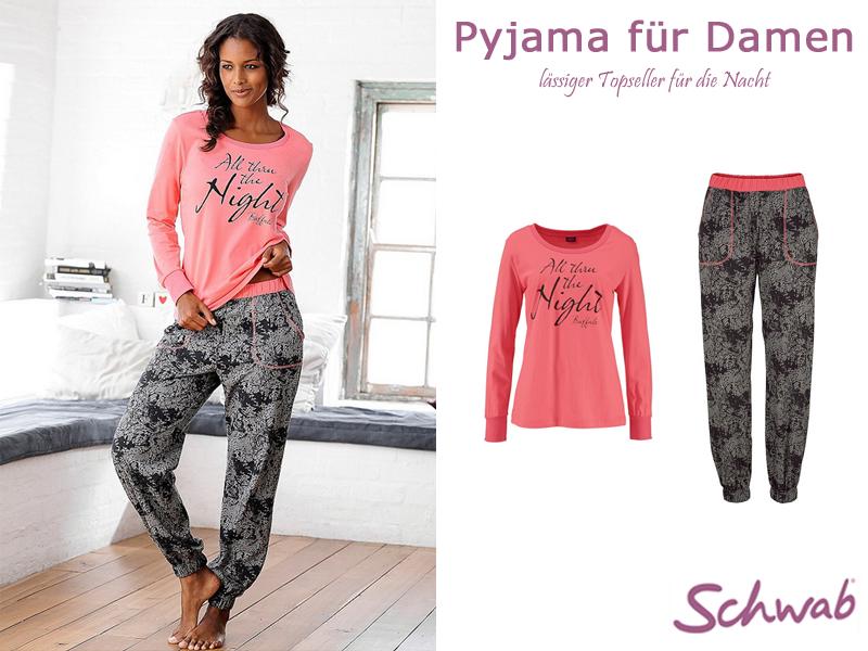 Der lässige Pyjama für Damen für angenehme Nächte. #PyjamaDamen #Pyjama