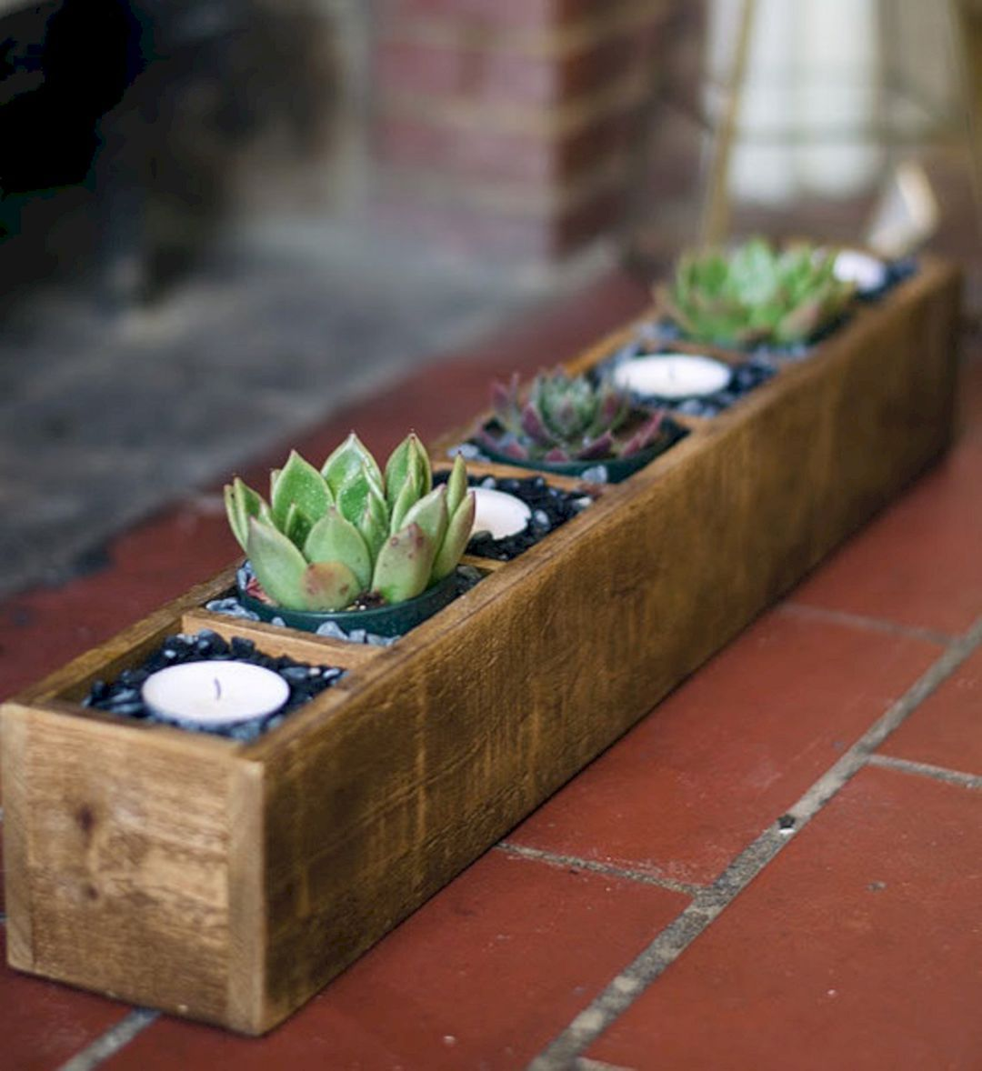 24 beautiful outdoor diy succulent planter with cinder on easy diy woodworking projects to decor your home kinds of wooden planters id=65794
